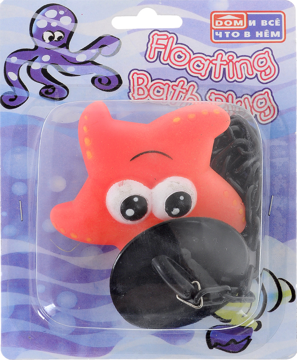 Пробка для ванны Дом и все, что в нем Морская звезда, цвет: коралловый813-039_коралловыйПробка для ванны Дом и все, что в нем Морская звезда изготовлена из пластика и металла. Пробка оснащена цепочкой, на конце которой располагается забавная игрушка. Потянув за игрушку, вы легко вытащите пробку из ванны. Этот яркий аксессуар станет развлечением для вашего ребенка во время купания и приятным дополнением к интерьеру ванной комнаты.Размер пробки: 5 х 5 х 2 см. Размер игрушки: 8 х 7 х 3 см.