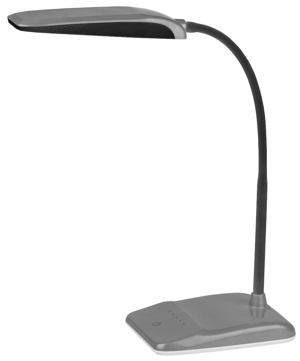 Настольный светильник ЭРА NLED-447-9W-S, цвет: сереброNLED-447-9W-SСветильник со светодиодами (LED) в качестве источников света, которые экономят до 90% электроэнергии и не требуют замены на протяжении всего срока службы светильника.Сенсорный переключатель на основании.Четырехступенчатый диммер для регулировки яркости.Высота плафона регулируется гибкой стойкой, направление света регулируется поворотом плафона в любом направлении.Теплый свет, аналогичный свету лампы накаливания - цветовая температура 3000К.