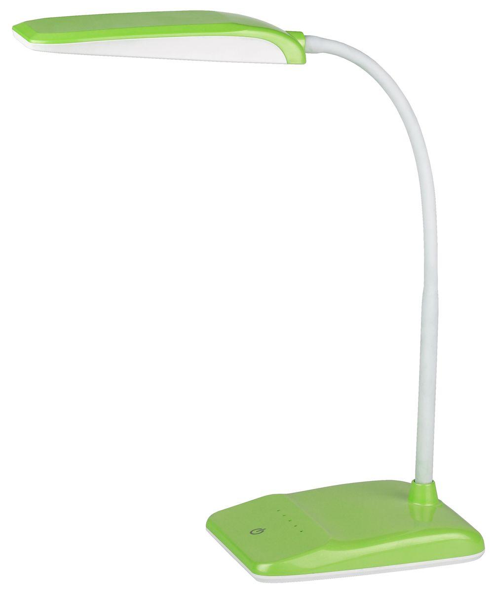 Настольный светильник ЭРА Фиксики, цвет: зеленый. NLED-447-9W-GRNLED-447-9W-GRНастольный светильник ЭРА Фиксики - светильник со светодиодами (LED) в качестве источников света, которые экономят до 90% электроэнергии и не требуют замены на протяжении всего срока службы светильника.Сенсорный переключатель на основании.Четырехступенчатый диммер для регулировки яркости.Высота плафона регулируется гибкой стойкой, направление света регулируется поворотом плафона в любом направлении.Теплый свет, аналогичный свету лампы накаливания - цветовая температура 3000К.Класс энергоэффективности: A.Степень защиты от воздействия окружающей среды: IP20.Диапазон рабочих температур: + 5..+40°C.Класс защиты от поражения электрическим током: класс II.Количество светодиодов: 30 шт.