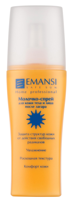 Emansi Молочко-спрей для кожи тела и лица Safe sun после загара, 150 мл3311 - Увлажнение- Роскошная текстура- Комфорт кожи- Увлажняет и смягчает кожу- Подходит для любой, в том числе и чувствительной кожи