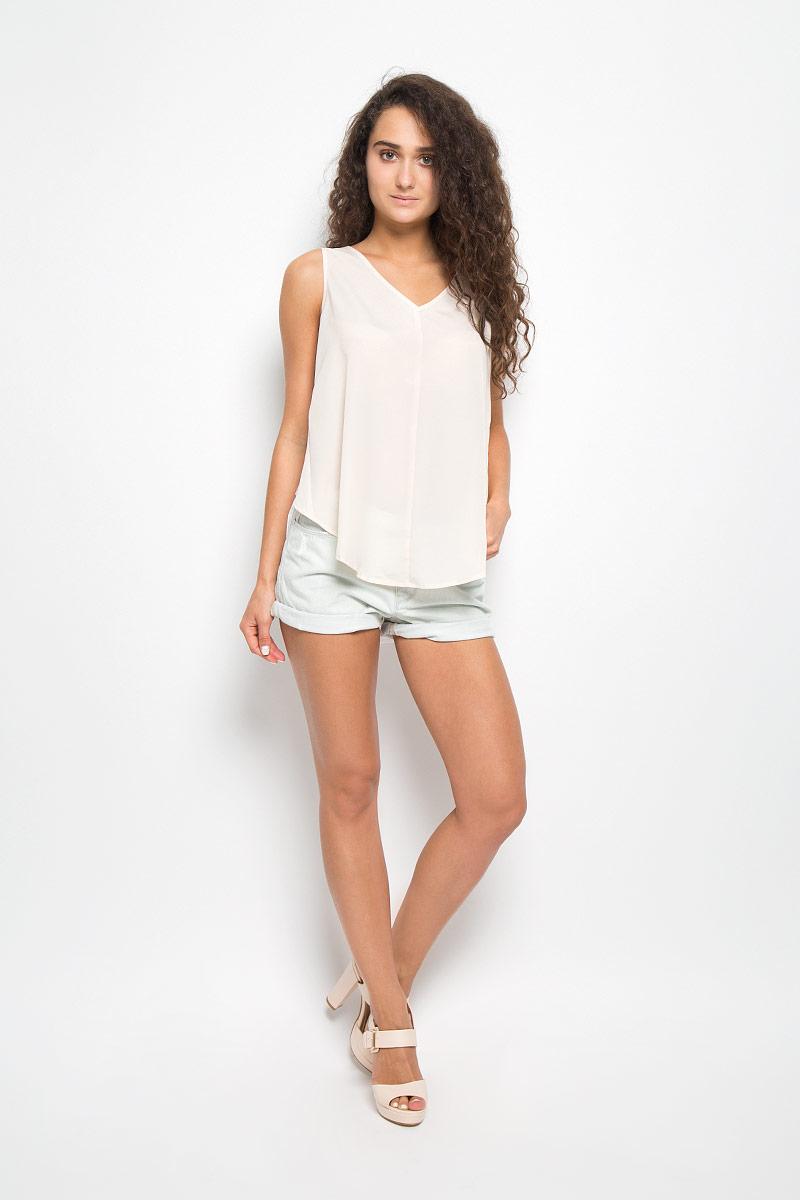 Топ женский Mexx, цвет: кремовый, белый. MX3021022_WM_BLS_004. Размер L (48/50) блузка женская mexx цвет молочный mx3002363 wm blg 010 размер l 48 50