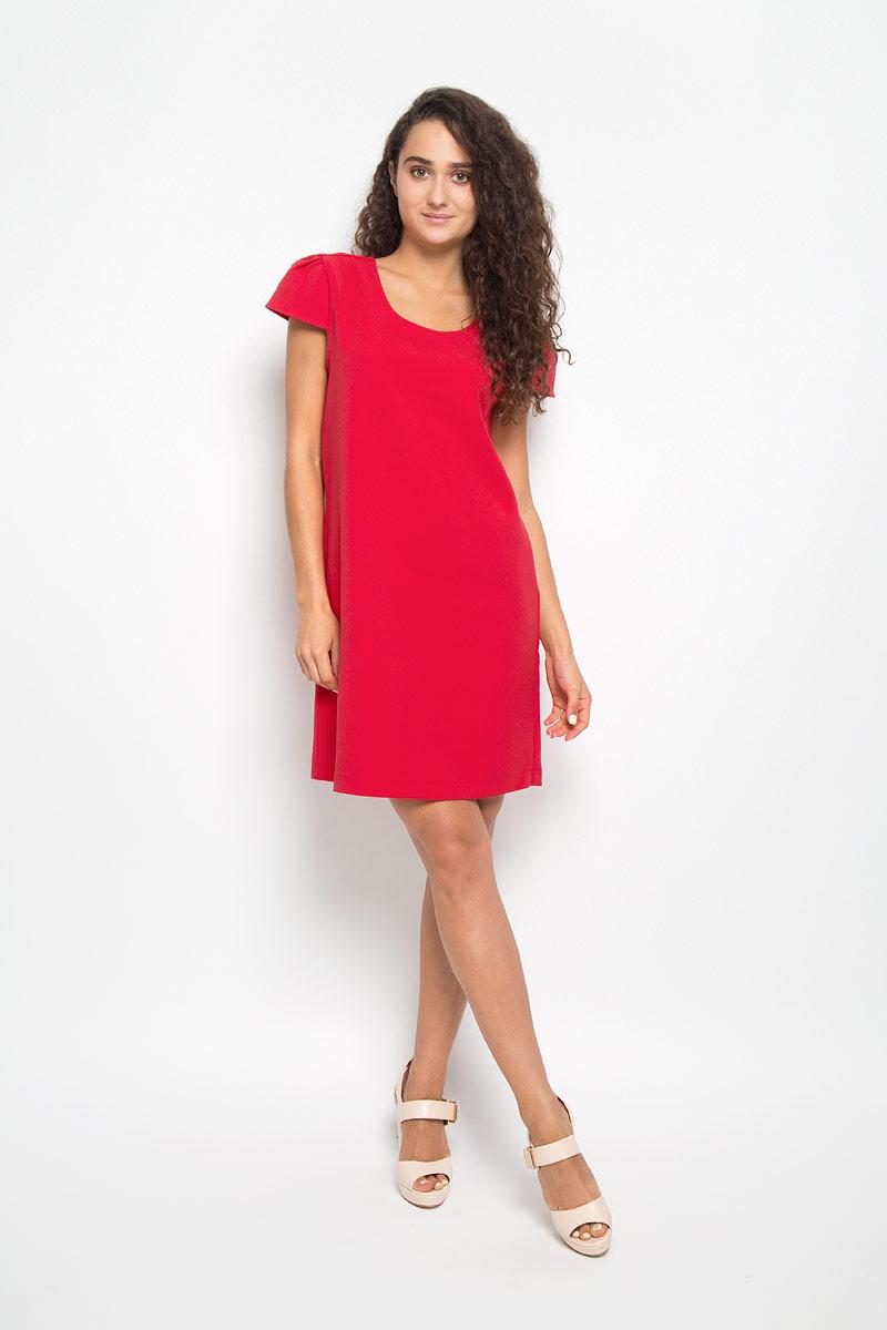 Платье Mexx, цвет: красный. MX3002141. Размер L (48/50)MX3002141Элегантное платье Mexx выполнено из высококачественного эластичного полиэстера. Такое платье обеспечит вам комфорт и удобство при носке и непременно вызовет восхищение у окружающих.Модель средней длины с короткими рукавами-крылышками и круглым вырезом горловины выгодно подчеркнет все достоинства вашей фигуры. Изделие оформлено перекрещивающимися лентами на спинке. Изысканное платье-миди создаст обворожительный и неповторимый образ.Это модное и комфортное платье станет превосходным дополнением к вашему гардеробу, оно подарит вам удобство и поможет подчеркнуть ваш вкус и неповторимый стиль.