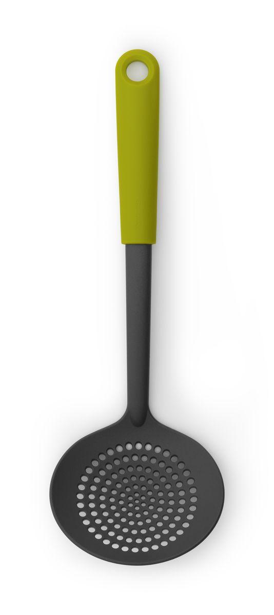 Шумовка Brabantia Tasty Colours, цвет: зеленый. 106149106149Поможет достать овощи из кипящей воды, мясо из бульона или снять пену при приготовлении супа или тушеных блюд. Имеет длительный срок службы – высококачественный огнеупорный нейлон (макс. 220°C). Не царапает посуду с антипригарным покрытием – эластичный пластик и сглаженные формы. Подходит для мытья в посудомоечной машине. Удобно хранить – петелька для подвешивания.