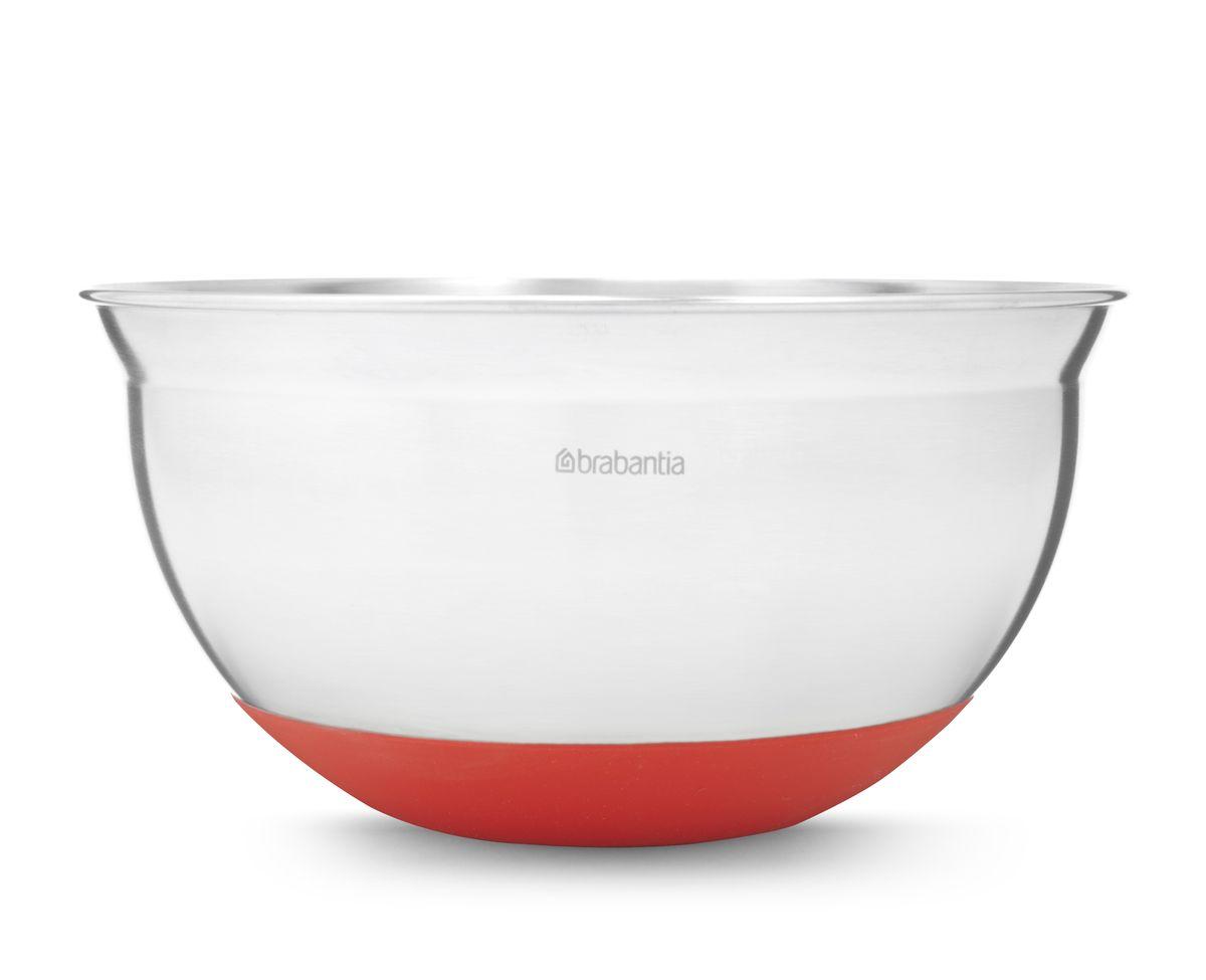 Салатник Brabantia, цвет: красный, 1,6 л. 364365364365Устойчивость и отсутствие царапин на поверхности стола – основание с нескользящим покрытием.Подходит для смешивания горячих ингредиентов – термостойкое покрытие (220°С).Удобная в использовании – мерные деления на внутренней поверхности. Прочная и удобная в очистке – изготовлена из нержавеющей стали.