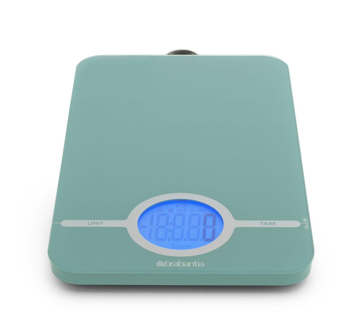 Весы кухонные Brabantia, цифровые, цвет: мятный. 480720 brabantia цифровые кухонные весы 480720 brabantia