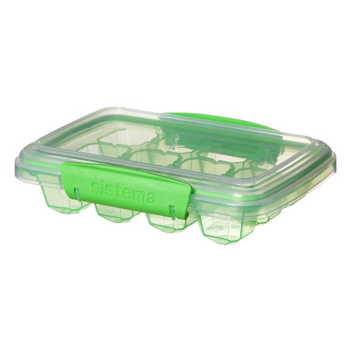 Контейнер для льда Sistema Klip It, средний, цвет: зеленый, 12 ячеек61445Контейнер Klip It предназначен для приготовления 8 кубиков льда. Крышка с силиконовой прокладкой герметично закрывается, что помогает дольше сохранить полезные свойства продуктов. Контейнер оснащен фиксирующимися зажимами – клипсами, которые при необходимости можно заменить. Можно мыть в посудомоечной машине.