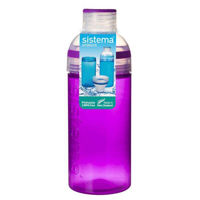 Питьевая бутылка Трио Sistema HYDRATE, цвет: фиолетовый, 580мл830Многоразовая бутылка вместимостью 580 мл пригодится в спортзале, на прогулке, дома, на даче. Имеет широкое горлышко, идеально подходит для людей, которые хотят добавить лед в свои напитки. Также может быть использована в качестве чашки. Герметично закрывается. Именно благодаря простоте и комфорту в использовании, качественным материалам и стильному дизайну, бутылочка для воды с поилкой так популярна. Можно мыть в посудомоечной машине.
