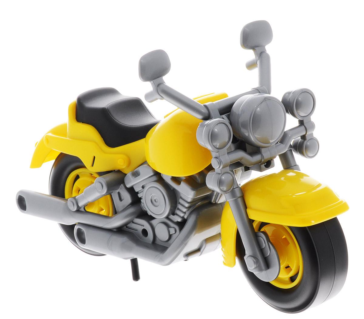 Полесье Гоночный мотоцикл Кросс цвет желтый серый