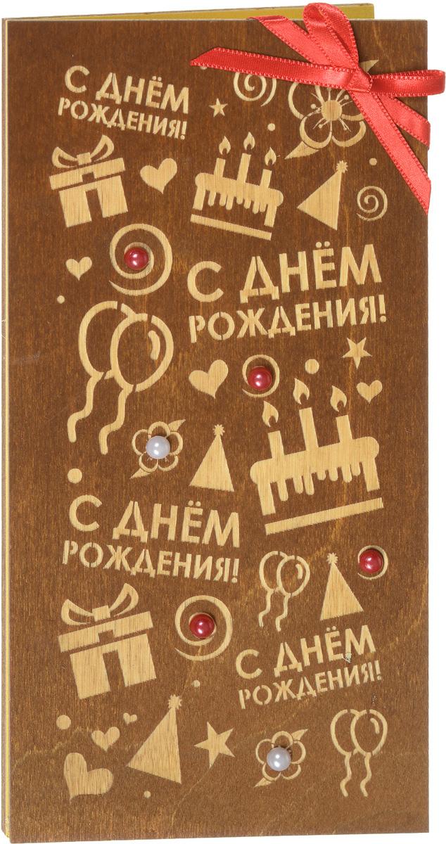 Деревянная открытка ручной работы Optcard
