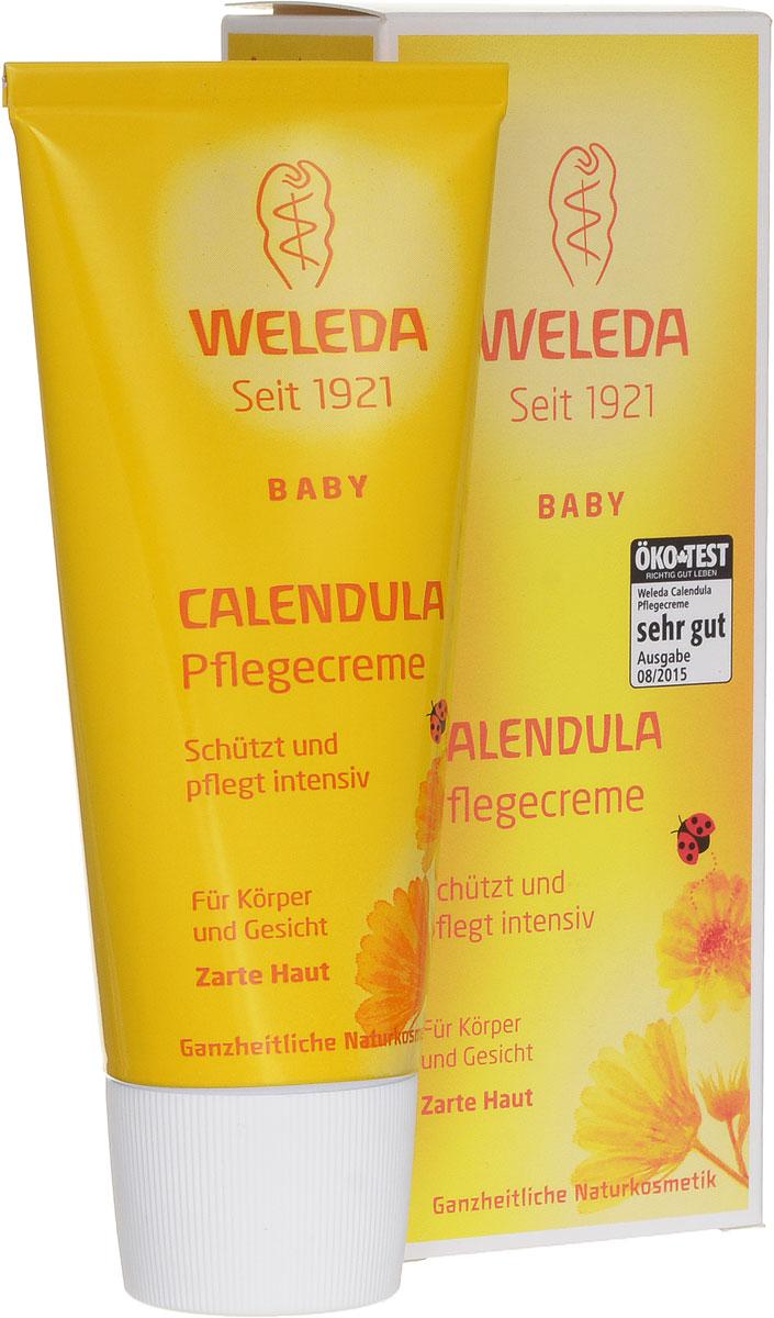 Weleda Крем для тела Baby, с календулой, 75 мл01-552Крем для тела с экстрактом календулы и ромашки - это ароматный увлажняющий крем с успокаивающим эффектом, предназначенный для ежедневного ухода за лицом и телом вашего малыша. Крем для тела может применяться для профилактики опрелостей.Действующими веществами крема являются масляные экстракты календулы и цветков ромашки, обладающих противовоспалительным эффектом. Благодаря им кожа ребенка остается мягкой и эластичной и легко справляется с мелкими раздражениями. Входящие в состав крема пчелиный воск и ланолин защищают кожу от внешних раздражителей, при этом они не снижают дыхательную функцию кожи. Крем хорошо увлажняет кожу ребенка. Легко втирается и быстро впитывается кожей. Товар сертифицирован.