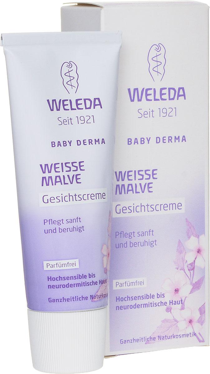Weleda Крем для лица Baby Derma, с алтеем, для гиперчувствительной кожи, 50 млM3294600Нежный крем без ароматизаторов с тщательно подобранными безопасными полностью натуральными компонентами успокаивает и восстанавливает кожу, снимает сухость и раздражение.Алтей лекарственный смягчает раздражение и создает защитный слой, ценный экстракт фиалки – успокаивает, а кокосовое и кунжутные масла – интенсивно питают. Подходит для ухода за сухой, реактивной кожей детей и взрослых, а также при атопическом дерматите. Защищает кожу от негативного воздействия окружающей среды.Основные ингредиенты и их свойства:Кокосовое масло холодного прессования, богатое насыщенными жирными кислотами, помогает формированию естественного защитного слоя.Масло бораго благодаря омега-6-ненасыщенным кислотам (гамма-линоленовая жирная кислота) восстанавливает защитный барьер кожи. Содержит растительные жиры и масла, фитостеролы и витамин Е.Экстракт фиалки успокаивает и увлажняет кожу.Сафлоровое масло богато линолевой кислотой, которая способствуют восстановлению защитного барьера кожи. Кунжутное масло бережно ухаживает за кожей благодаря содержанию неомыляемых компонентов (сезамин).Товар сертифицирован.