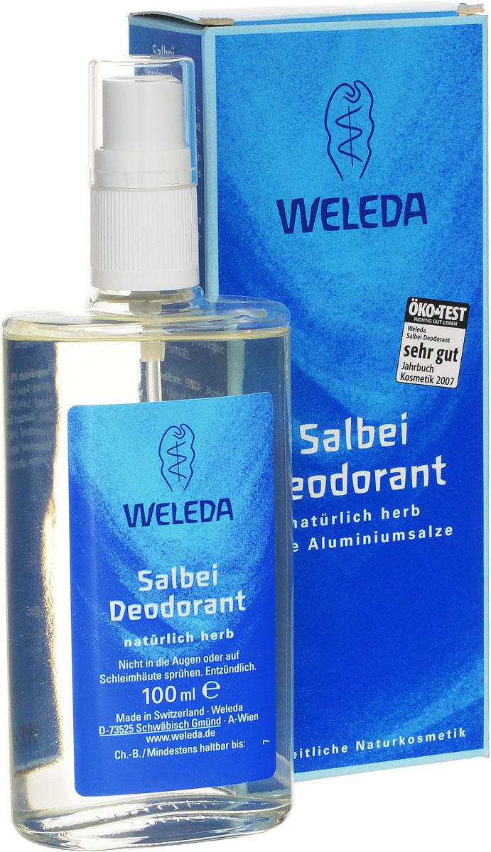 Weleda Дезодорант с шалфеем, 100 мл9927Яркий травяной и слегка пряный аромат с нотами шалфея, тимьяна и розмарина создан на основе чистейших эфирных масел. Он тонизирует и приводит мысли в порядок. Комплекс эфирных масел оказывает мягкое освежающее действие. 100% натуральный дезодорант благодаря особой растительной формуле предотвращает размножение бактерий и появление неприятного запаха, не закупоривая поры. Обеспечивает бережный уход и защиту, поддерживая естественные регулирующие функции кожи. Не оставляет следов на одежде. Создает приятное ощущение свежести Действуtт исключительно благодаря природным компонентам Не закупоривают поры и не препятствуют дыханию кожи Cодержат только натуральные компоненты Без солей алюминия, парабенов и фталатов Без синтетических ароматизаторов, красителей, консервантов и компонентов животного происхождения Неаэрозольный спрей в стеклянном флаконе Способ применения: распылять дезодорант на расстоянии 10-15 см на сухую и чистую кожу подмышечных впадин. При необходимости в течение дня можно наносить повторно.