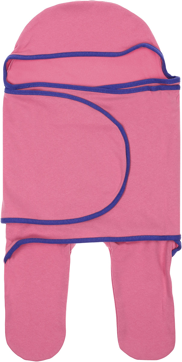 Комбинезон-конверт для новорожденного Mum's Era Камелия, цвет: темно-розовый. 8338. Размер 54/62, 0-3 месяца конверты трансформеры mums era комбинезон конверт трикотаж