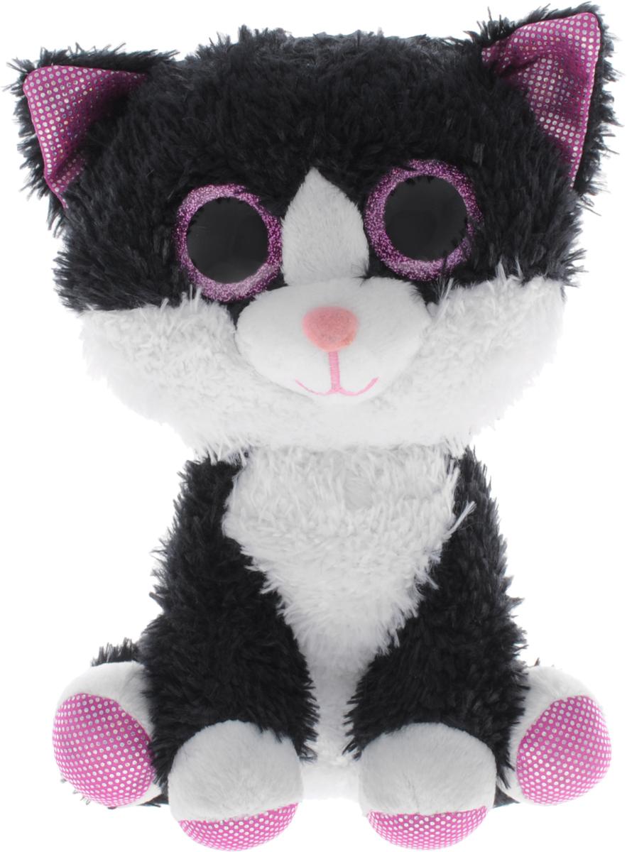 Fancy Мягкая игрушка Котик Глазастик 21 см fancy мягкая игрушка собака эля 14 5 см