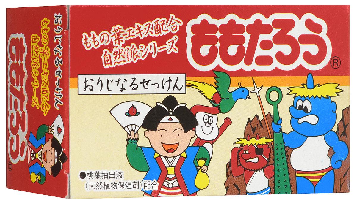 """Fudo Kagaku Детское мыло """"Момотаро"""", с экстрактом листьев персика, 100 г"""