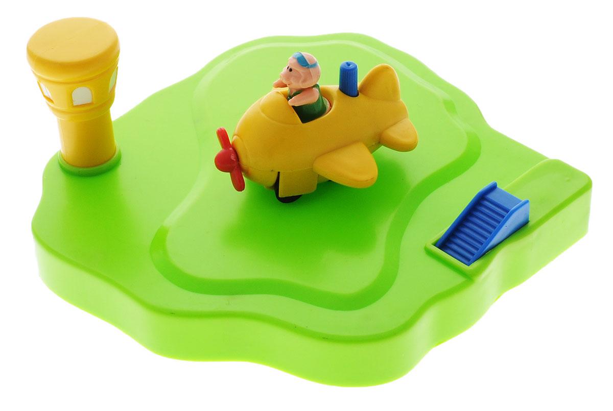 Жирафики Игрушка для ванной Аэродром цвет самолета желтый игрушка жирафики аэродром 681123