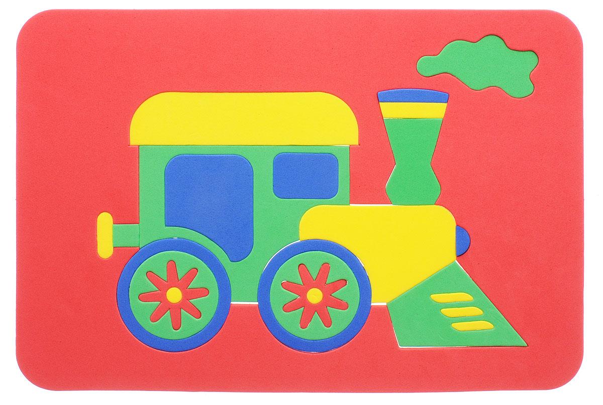 Август Пазл для малышей Паровозик цвет основы красный бомик пазл для малышей цифры цвет основы красный