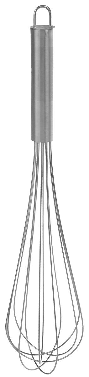 """Венчик """"Fackelmann"""", выполненный из нержавеющей стали, обладает исключительным качеством и займет достойное место среди аксессуаров на вашей кухне. Эргономичная ручка не позволит изделию выскользнуть из вашей руки. Также есть небольшая петля, с помощью которой вы можете подвесить изделие у себя на кухне в удобном месте. Венчик поможет вам с легкостью смешать и взбить заправку, крем или тесто.Венчик """"Fackelmann"""" предоставит вам все необходимые возможности в успешном приготовлении пищи. Длина венчика: 32 см.Ширина рабочей части: 6,8 см."""