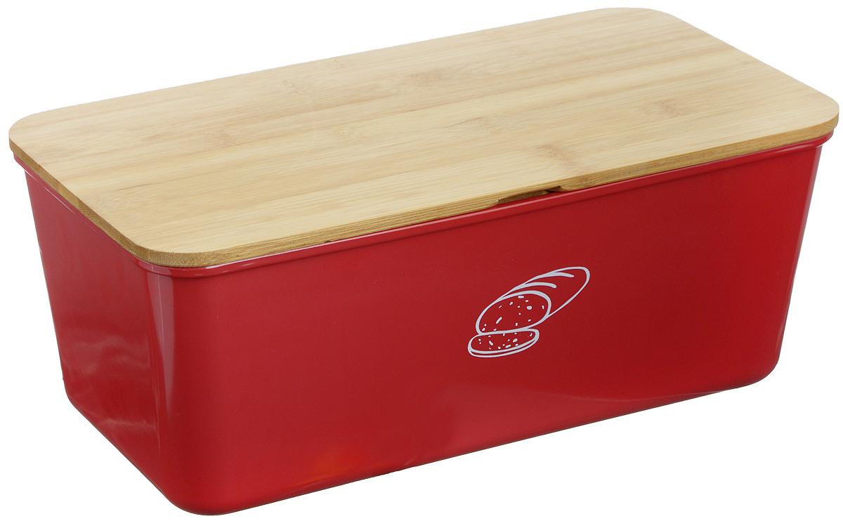 Хлебница Kesper, 34 х 18 х 13 см1809-3Хлебница Kesper представляет собой контейнер из высококачественного пластика с крышкой. Крышка, выполненная из древесины, также служит разделочной доской. Материал не содержит вредных примесей и токсинов. Хлебница Kesper позволит сохранить ваш хлеб свежим и вкусным.Можно мыть в посудомоечной машине. Размер хлебницы: 34 см х 18 см х 13 см.Размер доски: 34 см х 18 см х 0,6 см.