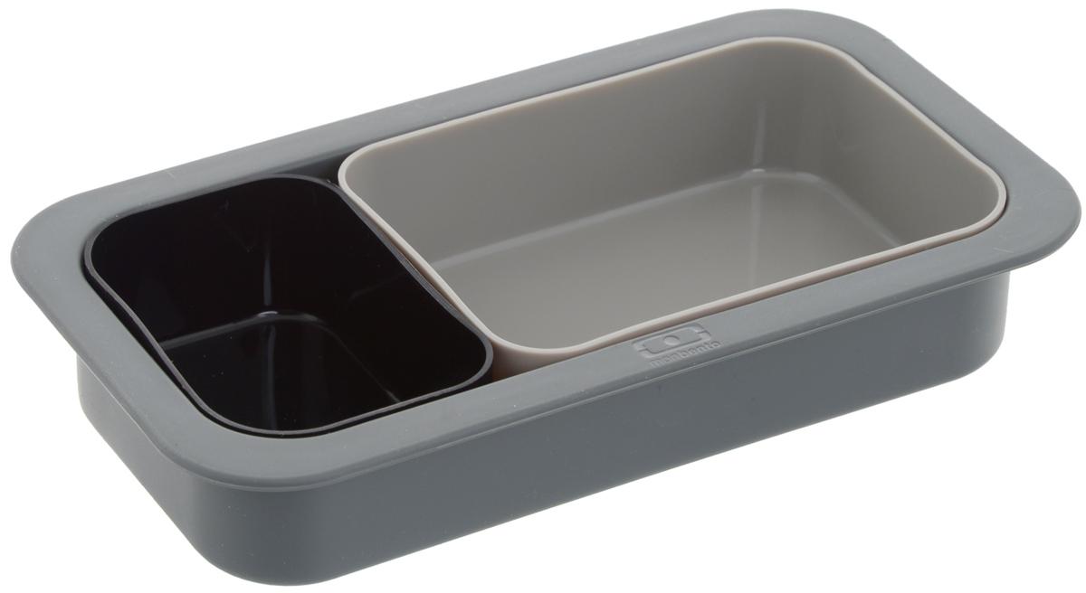 Набор форм для выпечки Monbento Original, цвет: черный, серый, 3 шт1009 00 001Набор форм для выпечки Monbento Original состоит из трех высококачественных силиконовых форм. Такой набор подходит для приготовления пирогов, желе, кексов, запеканок и других блюд. Изделия можно использовать как в духовке, так и в микроволновой печи, а также замораживать жидкость в морозильной камере. Форма выдерживает температуру от -40 до +240°С. Благодаря таким формам вы сможете взять приготовленное блюдо с собой на работу, так как по размеру ваша выпечка будет совпадать с ланч-боксами MB Single и MB Original.Объем большой формы: 450 мл.Объем средней формы: 300 мл.Объем маленькой формы: 150 мл.Размер большой формы: 18 х 9 х 3,5 см.Размер средней формы: 11,5 х 8,5 х 3,5 см.Размер маленькой формы: 8,5 х 5,5 х 3,5 см. Как выбрать форму для выпечки – статья на OZON Гид.