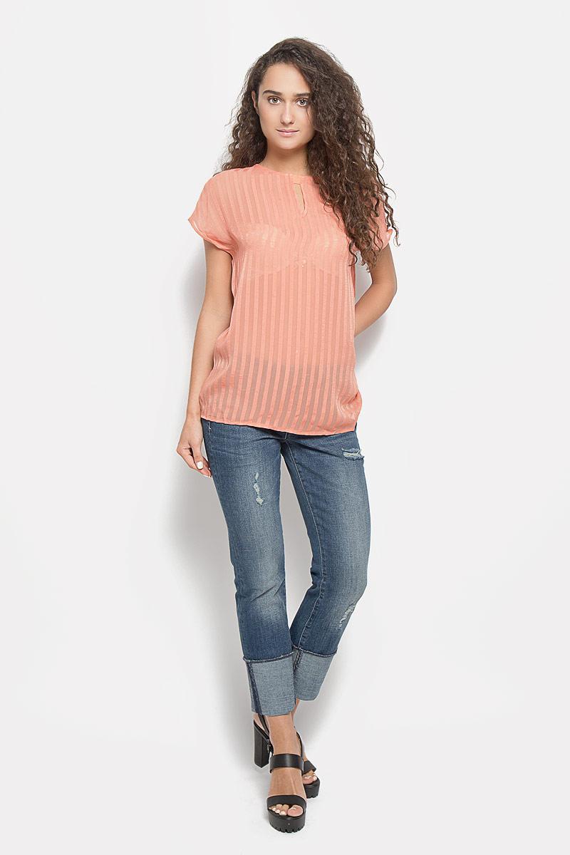 Блузка женская Mexx, цвет: коралловый. MX3020975_WM_BLS_002. Размер L (48/50) блузка женская mexx цвет молочный mx3002363 wm blg 010 размер l 48 50