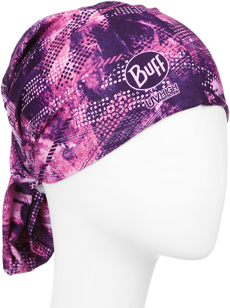 Бандана Buff Perform High Uv Sprint, цвет: розовый, фиолетовый. 108577.00. Размер универсальный108577.00Многофункциональная бандана-трансформер из серииPerform High Uv Sprint изготовлена из тончайшего полиэстера в виде трубы. Такую бандану вы можете легко одеть на лицо или превратить в шапку-бандану, маску, повязку на голову или надеть бандану на шею. При надевании банданы на голову ее не нужно завязывать. Бесшовная бандана-труба оформлена ярким принтом и логотипом бренда.Данный тип спортивных бандан является самым универсальным, и может использоваться в любое время года.
