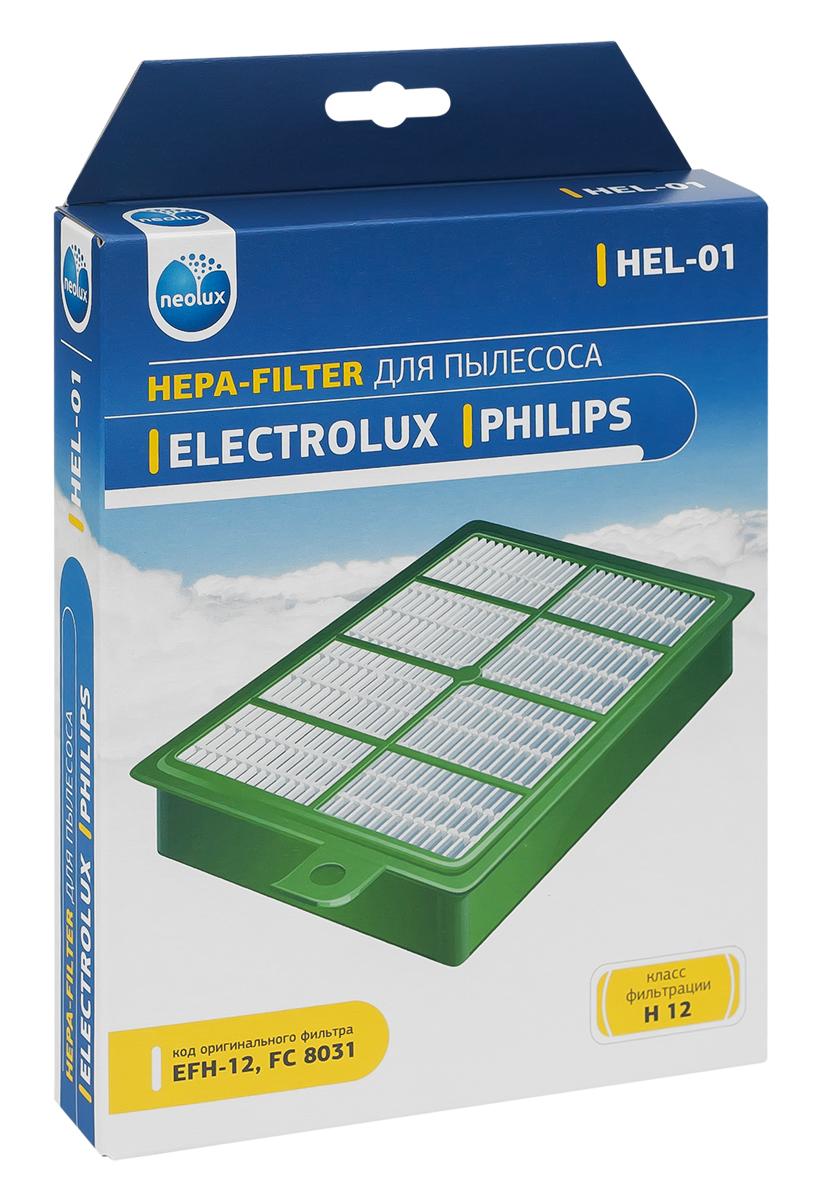 Neolux HEL-01 HEPA-фильтр для пылесоса Electrolux, PhilipsHEL-01HEPA фильтр Neolux HEL-01 предназначен для пылесосов Electrolux, Philips. Обладает высочайшей степенью фильтрации, задерживает 99,5% пыли. Благодаря специальным свойствам фильтрующего материала, фильтр улавливает мельчайшие частицы, позволяя очищать воздух от пыльцы, микроорганизмов, бактерий и пылевых клещей. Предотвращает попадание пыли в механическую часть пылесоса, тем самым продлевая срок службы пылесоса и сохраняют чистоту воздуха.Совместимые модели:Electrolux: Accelerator, Airmax, Bolido, Clario, Ergospace, Ergospace, Excellio, Jetmaxx, Maximus, Oxy3system, Oxygen, Scanimal, Scorigin, Scparkett, Smartvac, Ucorigin, Ultraflex, Ultraone, Ultraperformer, Ultra Silencer, Usdeluxe, Usorigindb, Zucallflr, Zucanimal, Zucdeluxe, Zusenergy,Philips: Ergofit, Jewel, Marathon, Performer, Performerpro, Powerpro, Silentstar, Studio(Power).