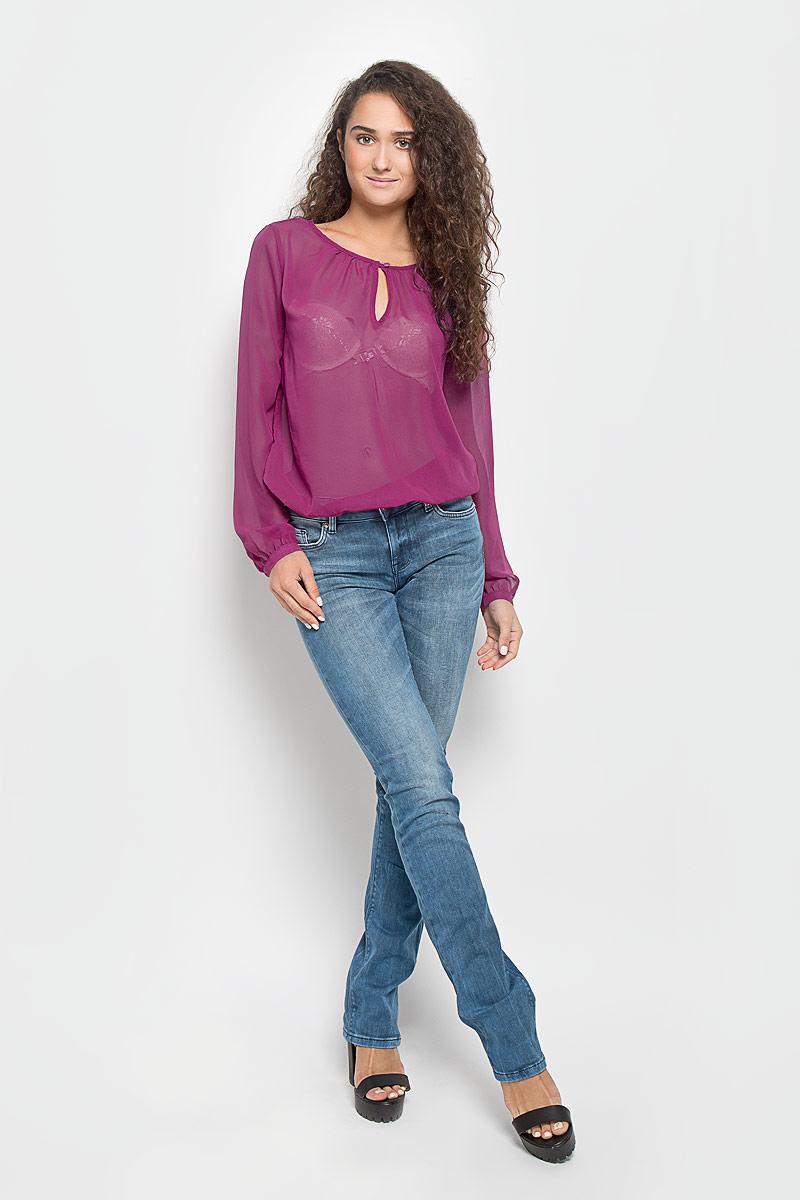 Блузка женская Mexx, цвет: темная фуксия. MX3002112_WM_BLG_010. Размер L (48/50) блузка женская mexx цвет молочный mx3002363 wm blg 010 размер l 48 50