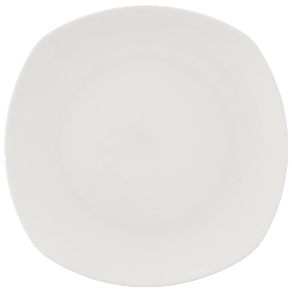 """Тарелка """"Wilmax"""", изготовленная из высококачественного фарфора, имеет оригинальную форму. Она прекрасно впишется в интерьер вашей кухни и станет достойным дополнением к кухонному инвентарю. Тарелка """"Wilmax"""" подчеркнет прекрасный вкус хозяйки и станет отличным подарком.Можно мыть в посудомоечной машине и использовать в микроволновой печи. Размер тарелки (по верхнему краю): 16,5 х 16,5 см."""