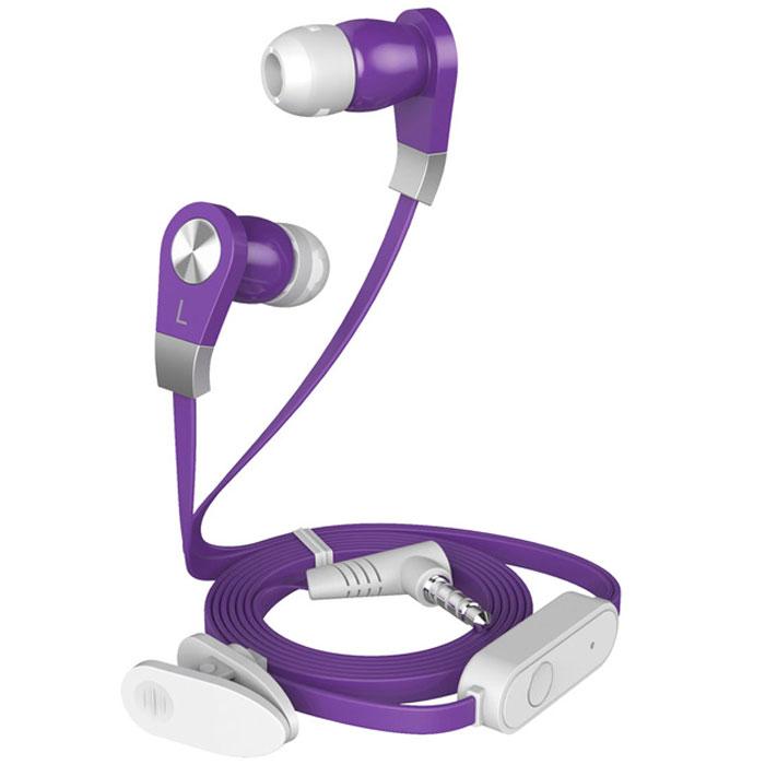 Harper HV-103, Purple наушникиHV-103 purpleHarper HV-103 - компактные и недорогие внутриканальные наушники с функцией гарнитуры.Кабель длиной 1,2 метра идеально подходит для использования на улице.Встроенный пульт и микрофон предназначен для быстрого переключения между музыкой и вызовами.L-образный штекер для прочности и долговечности кабеля.В комплект входят мягкие силиконовые накладки 3 размеров для максимального комфорта.