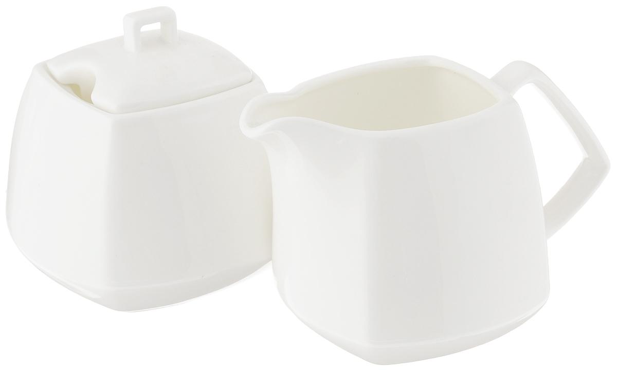 """Набор """"Wilmax"""", состоящий из сахарницы с крышкой и молочника, выполнен из высококачественного фарфора. Изделия, декорированные красочным изображением цветов, имеют изысканный внешний вид. Такой набор прекрасно подойдет для сервировки стола и станет незаменимым атрибутом чаепития. Изделия можно мыть в посудомоечной машине и использовать в микроволновой печи. Объем молочника: 310 мл. Объем сахарницы: 340 мл."""