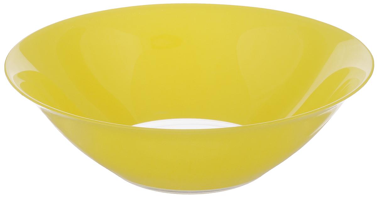 Салатник Luminarc Fizz, диаметр 27 смG9563Салатник Luminarc Fizz выполнен из ударопрочного стекла. Яркий дизайн придется по вкусу и ценителям классики, и тем, кто предпочитает изысканность. Салатник Luminarc Fizz идеально подойдет для сервировки стола и станет отличным подарком к любому празднику.Можно мыть в посудомоечной машине и использовать в микроволновой печи. Диаметр (по верхнему краю): 27 см.Высота стенки: 8,5 см.