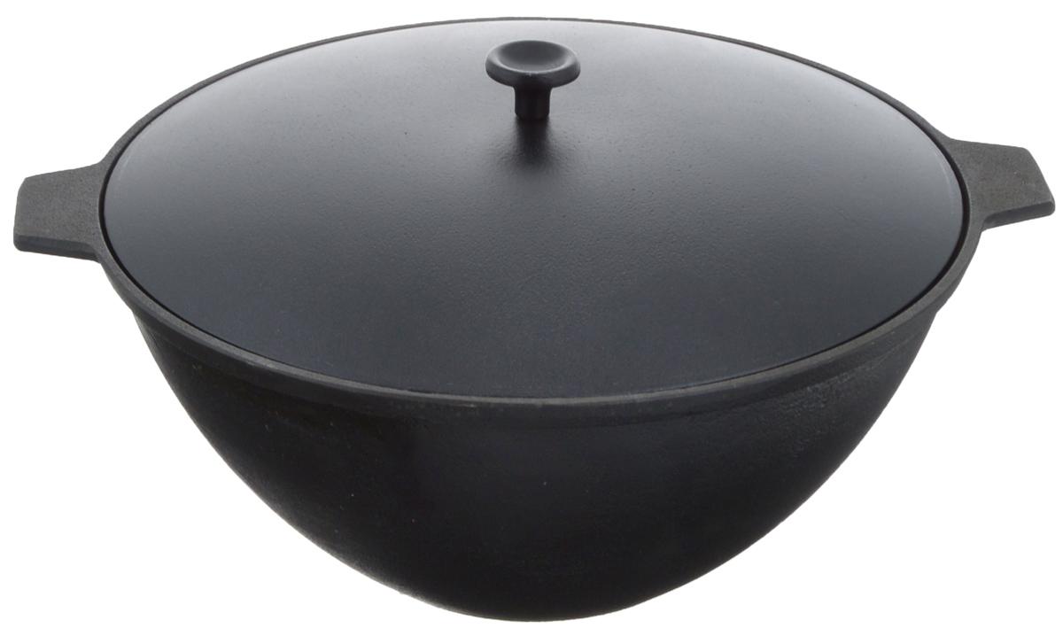 Котел чугунный Добрыня, с крышкой, 4 л. DO-3334DO-3334Котел Добрыня изготовлен из натурального, экологически безопасного чугуна. Чугун является одним из лучших материалов для производства посуды. Он очень практичный, не выделяет токсичных веществ, обладает высокой теплоемкостью и способен служить долгие годы. Чугунная посуда очень прочная и обладает превосходными природными антипригарными свойствами. Она не боится механических повреждений, царапин или высоких температур, однако тяжелее обычных и не очень любит длительный контакт с водой.Такой котел замечательно подойдет для приготовления блюд на костре. Снабжен алюминиевой крышкой. Чугунная посуда была популярна сотни лет и до сих пор остается такой. Свое качество и уникальные свойства она подтверждает в деле. Котел подходит для всех типов плит, включая индукционные, а также для приготовления пищи на костре. Рекомендуется мыть вручную. Высота стенки: 12,5 см. Объем котла: 4 л. Диаметр котла (по верхнему краю): 26 см.