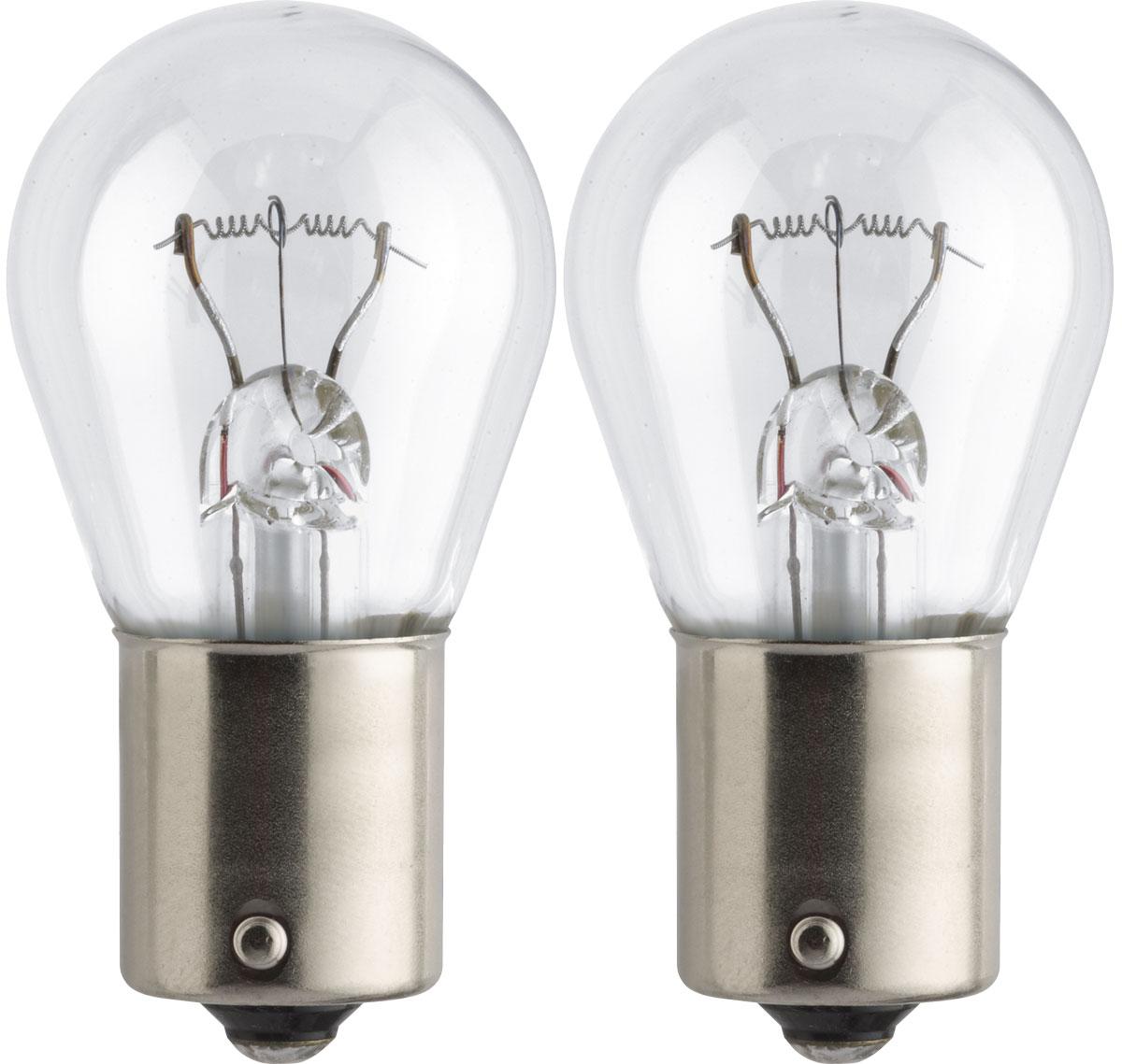 Лампа автомобильная галогенная Philips Standard, сигнальная, цоколь P21W (BA15s), 24V, 21W, 2 шт13498B2 (бл.2)Автомобильная галогенная лампа Philips Standard произведена из запатентованного кварцевого стекла с УФ-фильтром Philips Quartz Glass. Кварцевое стекло Philips с УФ фильтром в отличие от обычного твердого стекла выдерживает гораздо большее давление смеси газов внутри колбы, что препятствует быстрому испарению вольфрама с нити накаливания. Кварцевое стекло выдерживает большой перепад температур, при попадании влаги на работающую лампу изделие не взрывается и продолжает работать. Автомобильная лампа Philips Standard с напряжением питания 24 В предназначена для автобусов и грузовиков, она создает максимальную безопасность и комфорт при вождении, а также отличается экономичностью, непревзойденным сроком службы и повышенной устойчивостью к вибрациям. Такие лампы являются отличным световым решением, соответствуют стандартам качества для оригинального оборудования и обеспечивают максимальную производительность и минимальное время простоя. Автомобильные галогенные лампы Philips удовлетворят все нужды автомобилистов: дальний свет, ближний свет, передние противотуманные фары, передние и боковые указатели поворота, задние указатели поворота, стоп-сигналы, фонари заднего хода, задние противотуманные фонари, освещение номерного знака, задние габаритные/стояночные фонари, освещение салона.