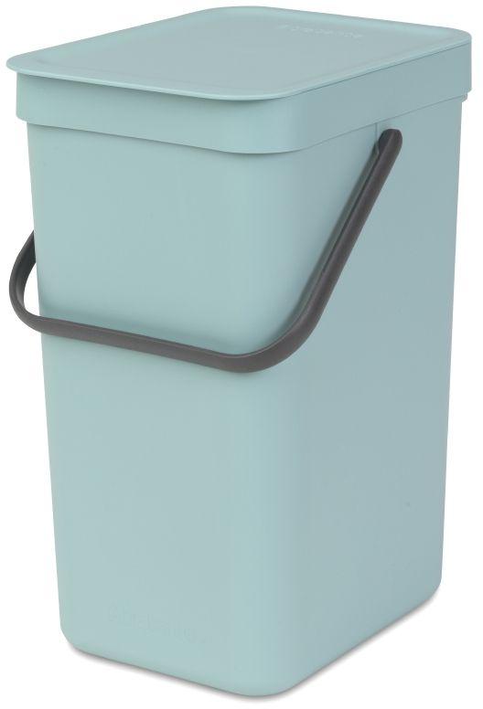Ведро мусорное Brabantia Sort & Go, встраиваемое, цвет: мятный, 12 л. 109744
