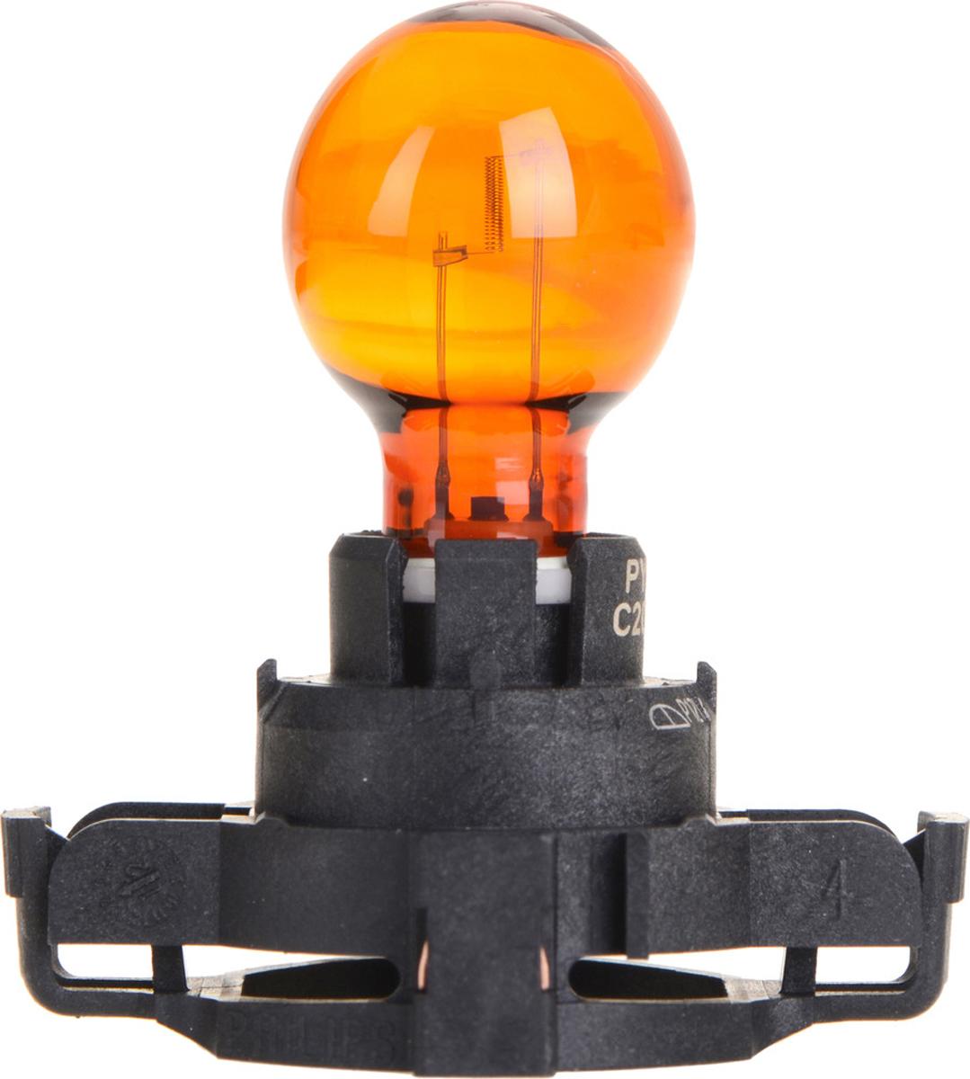 Лампа автомобильная галогенная Philips Vision, сигнальная, цоколь PY24W (PGU20/4), 12V, 24W12190NAC1Автомобильная лампа Philips Vision изготовлена из запатентованного кварцевого стекла с УФ-фильтром Philips Quartz Glass. Кварцевое стекло в отличие от обычного стекла выдерживает гораздо большее давление и больший перепад температур. При попадании влаги на работающую лампу, лампа не взрывается и продолжает работать. Лампа Philips Vision производит на 30% больше света по сравнению со стандартной лампой, благодаря чему стоп-сигналы или указатели поворота будут заметны с большего расстояния. Лампа Philips Vision отличается высокой эффективностью, соответствуя всем современным требованиям.