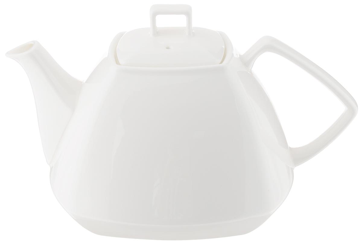 Чайник заварочный Wilmax, 1,05 лWL-994041 / 1CЗаварочный чайник Wilmax изготовлен из высококачественного фарфора. Глазурованное покрытие обеспечивает легкую очистку. Изделие прекрасно подходит для заваривания вкусного и ароматного чая, а также травяных настоев. Ситечко в основании носика препятствует попаданию чаинок в чашку. Оригинальный дизайн сделает чайник настоящим украшением стола. Он удобен в использовании и понравится каждому.Можно мыть в посудомоечной машине и использовать в микроволновой печи. размер чайника (по верхнему краю): 7 х 7 см. Высота чайника (без учета крышки): 9,5 см. Размер основания:8,5 х 8,5 см.