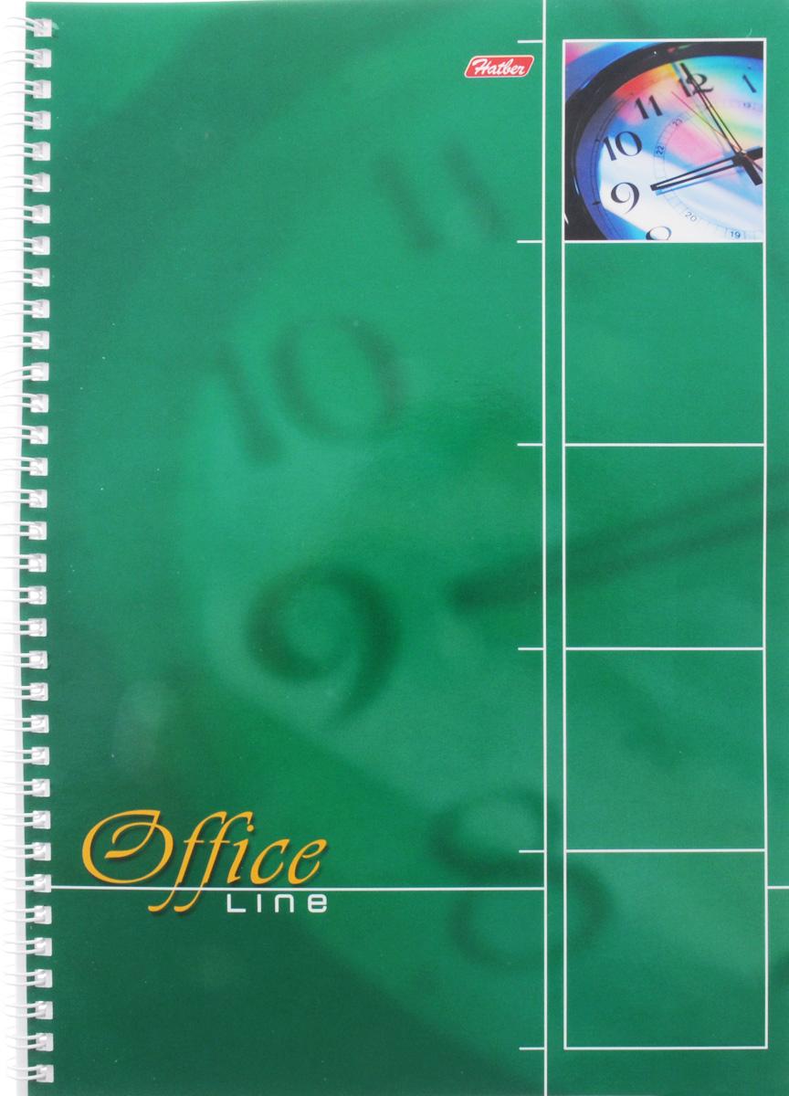 Hatber Тетрадь Office Line 80 листов в клетку цвет зеленый80Т4вмB1гр_зеленыйТетрадь Hatber Office Line непременно подойдет как школьнику, так и студенту.Обложка тетради выполнена из картона и оформлена в зеленом цвете. Внутренний блок состоит из 80 листов в синюю клетку с закругленными углами, формата А4. Листы тетради соединены надежным металлическим гребнем.Такая удобная тетрадь от Hatber Office Line станет для вас надежным помощником в учебных или офисных делах.