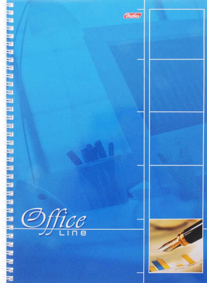 Hatber Тетрадь Office Line 80 листов в клетку цвет голубой рюкзак школьный hatber trend line хатико цвет черный