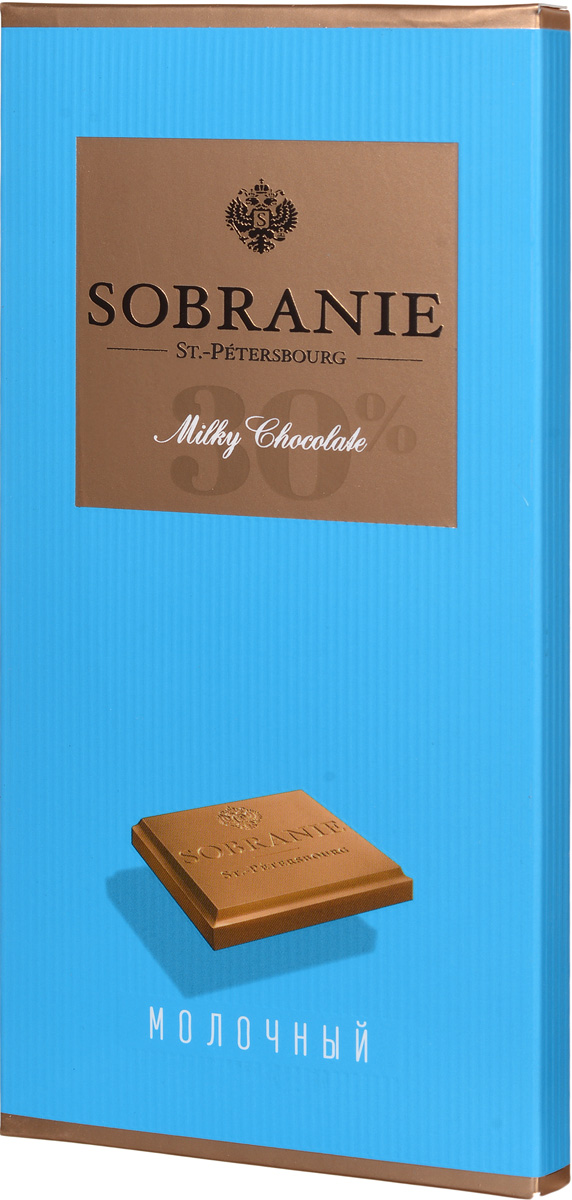 Sobranie молочный шоколад, 90 г14.0676Sobranie — особый шоколад, в котором соединяются верность российским кондитерским традициям, бескомпромиссность качества и изысканность вкуса. Созданный по бережно хранимому рецепту прошлоговека, шоколад Sobranie изготавливается исключительно из отборных какао-бобов с Берега Слоновой Кости.