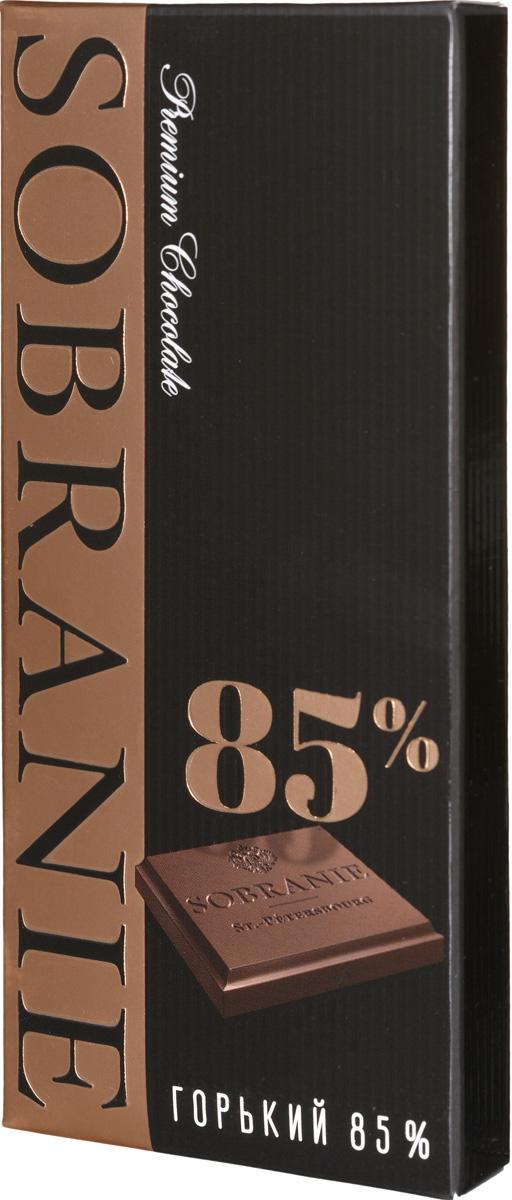 Sobranie горький шоколад, 45 г шоколад горький 77% какао блэкминт
