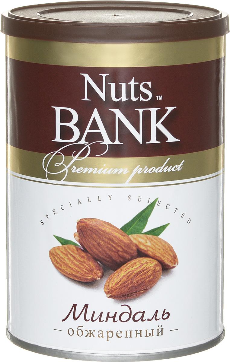 Nuts Bank Миндаль обжаренный, 200 г nuts for life миндаль обжаренный в сахаре с кокосом 115 г