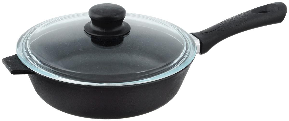 Сковорода чугунная Добрыня с крышкой. Диаметр 22 см. DO-3313