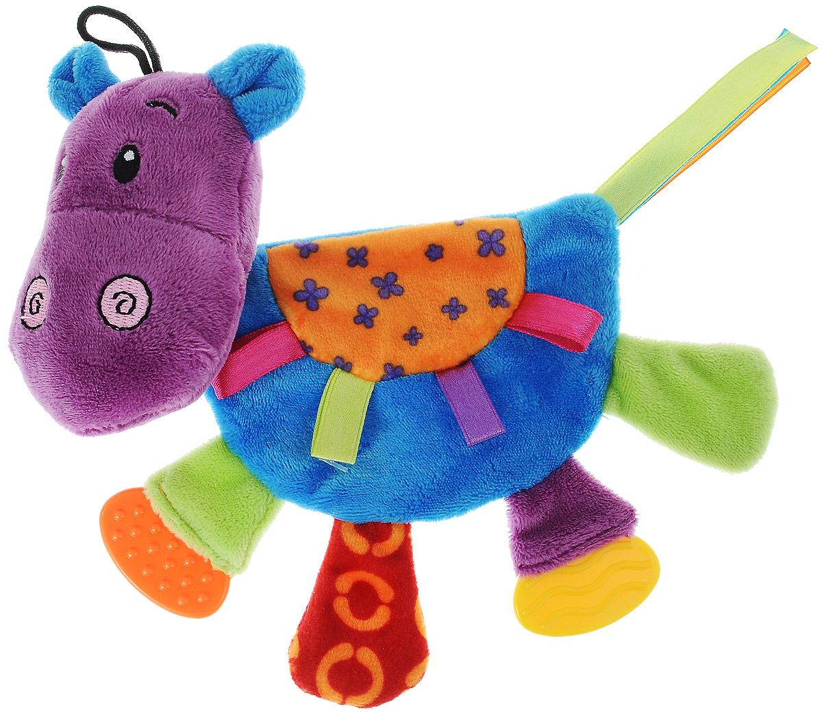 Игрушка для щенков и собак мелких пород Zolux Бегемот Марси, шуршащая zolux zolux игрушка латексная корова оранжевая 18 см