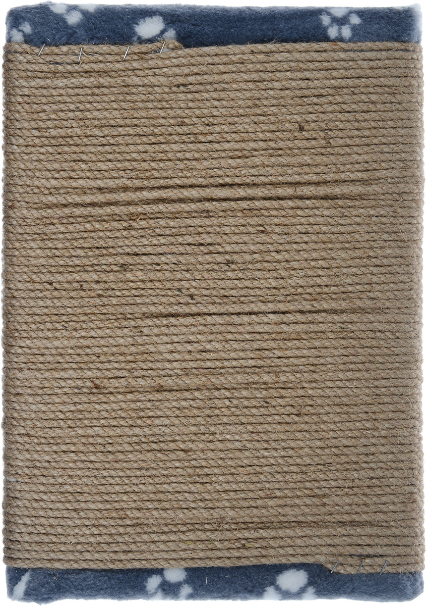 Когтеточка-коврик Меридиан, цвет: серый, белый, бежевый, 46 х 33 х 2,5 см когтеточки joy коврик когтеточка для кошек