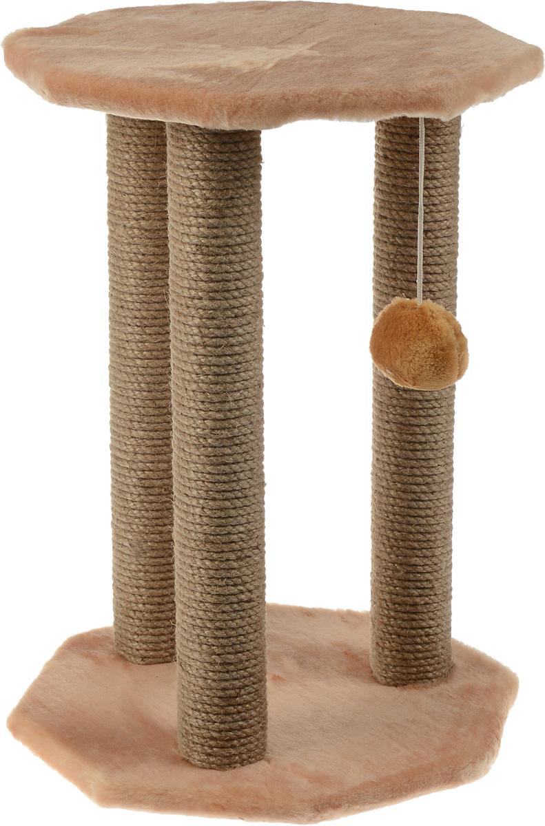 Когтеточка Меридиан Ротонда, с игрушкой, цвет: светло-коричневый, 35 х 35 х 50 смК501_светло-коричневыйКогтеточка Меридиан Ротонда поможет сохранить мебель и ковры в доме от когтей вашего любимца, стремящегося удовлетворить свою естественную потребность точить когти. Когтеточка изготовлена из ДСП, искусственного меха и джута. Товар продуман в мельчайших деталях и, несомненно, понравится вашей кошке. Подвесная игрушка привлечет внимание питомца. Сверху имеется полка, на которой кошка сможет отдохнуть.Всем кошкам необходимо стачивать когти. Когтеточка - один из самых необходимых аксессуаров для кошки. Для приучения к когтеточке можно натереть ее сухой валерьянкой или кошачьей мятой. Когтеточка поможет вашему любимцу стачивать когти и при этом не портить вашу мебель.