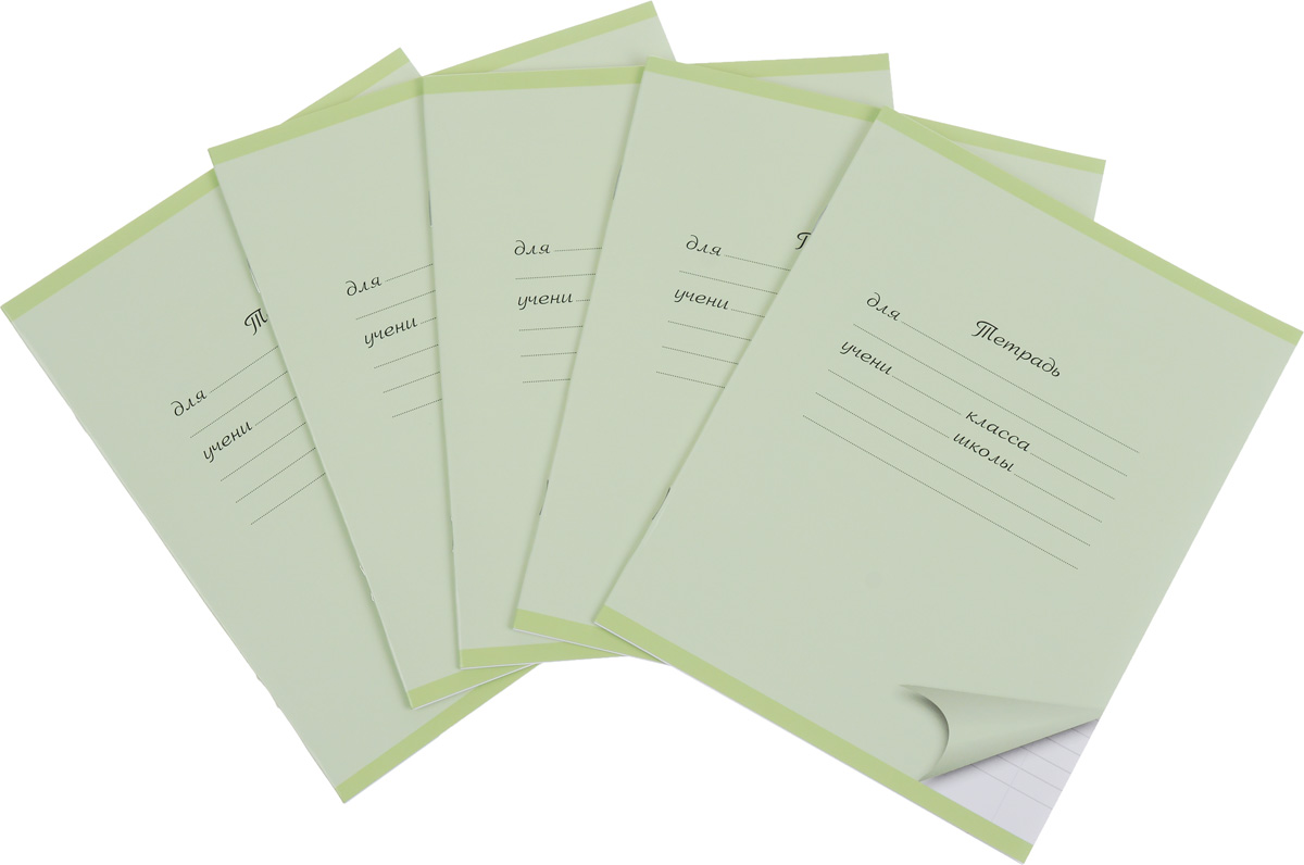 Action! Набор тетрадей 12 листов в линейку цвет светло-зеленый 5 штAN 1201/1M_зеленыйКомплект тетрадей Action! включает в себя 5 тетрадей.Обложка каждой тетради изготовлена из картона. На задней стороне обложки тетради представлен алфавит русского языка. Внутренний блок тетрадей состоит из 12 листов белой бумаги, соединенных скрепками. Стандартная линовка в голубую линейку дополнена полями.