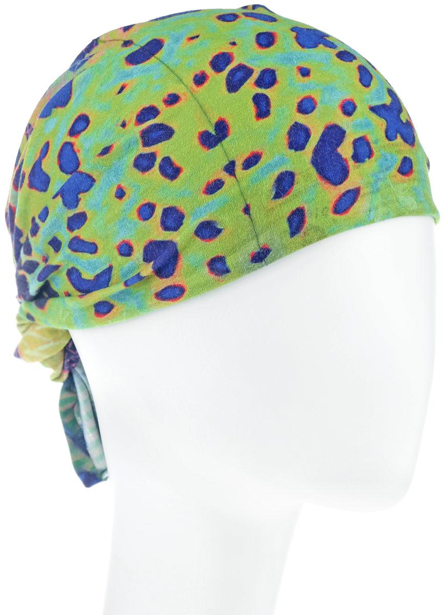 Бандана Buff High Uv Protection With Insect Shield Dy Mahi Mahi, цвет: желтый, синий, голубой. 111624.555.10.00. Размер универсальный111624.555.10.00Самая легкая и дышащая спортивная бандана-труба из серии High UV With Insect Shield, обладает репеллетными свойствами для жарких летних месяцев, . Бандану можно использовать для любых активностей в спорте и активном отдыхе. Технология Coolmax максимально быстро способствует отведению влаги, создавая легкий эффект охлаждения, тем самым снижая риск перегрева. Способствует блокированию до 95% ультрафиолетового излучения. Многофункциональную бандану Buff можно трансформировать в различные головные уборы: шапочка, повязка, пиратка, шарф, маска, напульсник и др. Технология Polygiene банданы Buff сохраняет свежесть намного дольше. Данный тип бандан является самым универсальным - размер окружности головы 55-62 см.