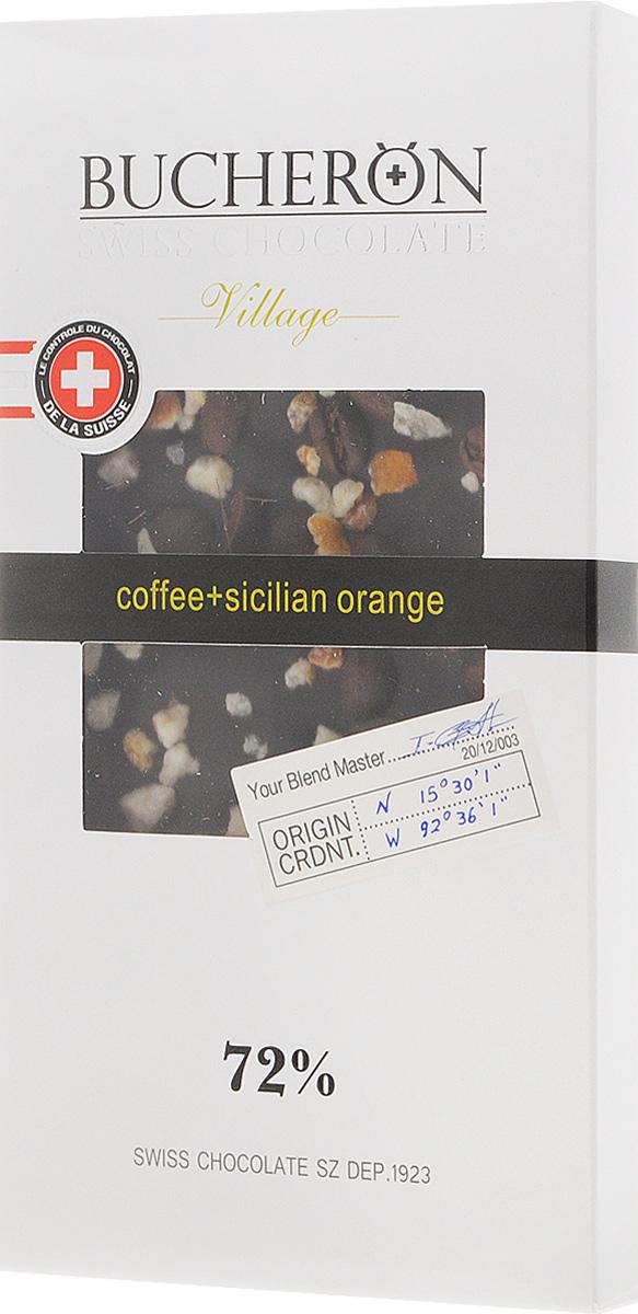 Bucheron горький шоколад с зернами кофе и апельсином, 100 г bucheron mini шоколад горький с фундуком мятой и кайенским перцем 171 г