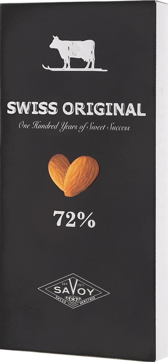 Swiss Original горький шоколад с миндалем, 100 г
